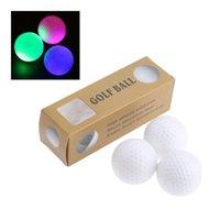 Шарики для гольфа 6 шт. / Коробка 42,6 мм Светодиодные ночные тренировки постоянные сияющие два слоя практика с 6 цветами для выбора DIA Surlyn