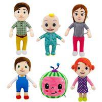 Melon de brinquedo de pelúcia JJ bonito boneca educacional Cocomelon é presente mais adequado para crianças decoração de casa, aliviar a dor ao trabalhar, e acompanhar o sono das crianças