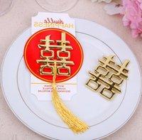 100pcs cinese asiatico a tema doppia felicità bottiglia apribile festa di nozze favori omaggi di nozze all'ingrosso