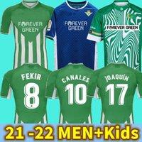 21 22 Real Betis Soccer Jersey Jersey Jersey Joaquin Loren BoudeBouz Bartra Home Lanales Edição Comemorativa Fekir 2021 2022 Homem Kits Kits Camisas de futebol