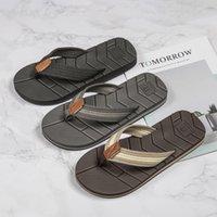 Wotte Sommer Hausschuhe Männer Abwässerung Rutschfeste Flip Flops Männer Strandrutschen Schuhe Outdoor Comfort Chanclas Hombre Große Größe 40-50 210225