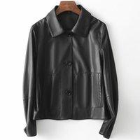 Women's Leather & Faux Long Term Simple And Honest Autumn 2021 Small Short Lapel Jacket Women Fashion Outerwear Coats Basic Jackets