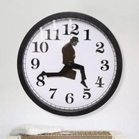 Wall Clocks Silly Walks Clock Punch-free Art Decorations Funny Walking Silent DIY Comedy Novelty Watch Home Office Decor Tools