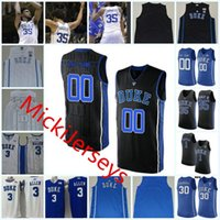 رجل NCAA مخصص ديوك الأزرق الشياطين كلية كرة السلة جيرسي ر. ج. باريت مارفن باجلي الثالث غاري ترينت ماركيز بولدن وينديل كارتر جيرسي