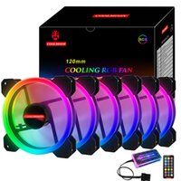 3 Pin RGB PC Fan Gaming Heatsink Dissipation 120mm Cooling Cooler Fan Support Controller Remote Computer Chassis Case