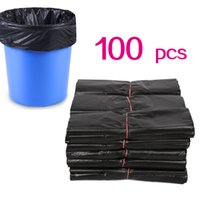 (596x01) Torby na śmieci Czarne Kuchnia Na śmieci Bag 100 sztuk Worki na śmieci Odmów Torby konsumpcyjne
