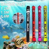 Pool & Accessories 1.2m 1.5m 1.8m Buoy Colorful Visibility Safety Inflatable Scuba Diving SMB Surface Signal Marker Accessory