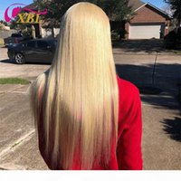 Xblhair Blonde Human Hair Bundles 3 Bundles 613 # Estensioni dei capelli umani e un orecchio a orecchio in pizzo frontale