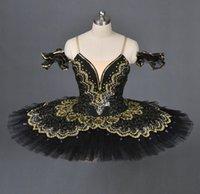 Noir Swan Classical Ballet Tutu Ballet Costume Adulte Red Professionnel Tutu Black Toutus Point Point de danse Performance