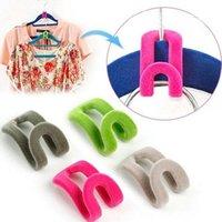 Cintres racks créatif mini flocage de vêtements cintre-vêtement facile crochet armoire organisateur Accueil Produit