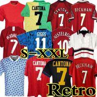 Retro 1994 2002 04 06 United Centenary Cantona Soccer Jersey V.Nistelrooy Fútbol Giggs Scholes Bekham Ronaldo 98 99 Manchester 07 08 09 98 99 90 92 94 96 86 88