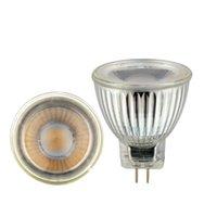 Ampoules haute qualité MR11 COB LED ampoule ampoule 7W AC / DC 12V 220V Dimmable plafonnier de plafond Spotlight chaud / naturel / froid blanc gu4