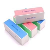 Nagel-Dateiblock Pediküre-Maniküre-Buffing-Make-up-Schleif-Datei Schleifen Schleifpolierblock-Puffer-Nagelkunst-Puffer-Werkzeuge