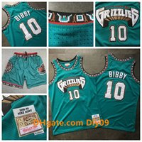РетроМемфисGrizzlies 10 Mike Bibby 1998-99 Swingman Jersey Vancouver Баскетбол Митчелл Несс HWCДревесинаНовые шорты