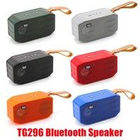 TG296 Mini Bluetooth Taşınabilir Destek Subwoofers Kablosuz USB Stereo Handsfree TF Profil 500mAh Bas Hoparlör Pil Çağrı Hoparlörler RKQB