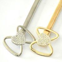 Nova cintura cadeia coração-shaped metal borboleta jóias diamante incrustado botão metal elástico metal