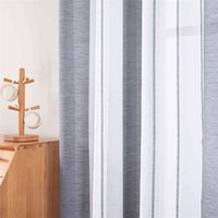 Curtain Modern Sheer Curtains Window Tule Bedroom Living room Home Decortive Streep Voile Kitchen For Windows J0727