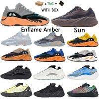 2021 Kanye 700 West V1 V2 V3 MNVN Wave Runner Mene Sneakers أحذية Azael Alvah Azareth فائدة سوداء صلبة الفوسفور البرتقالي النسائية الرياضة