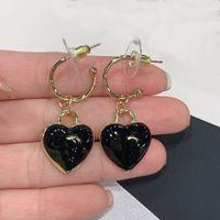 C001-01 Love shaped Stud resin Earrings Material Made Luxury Designer Earring Festival Top Gift