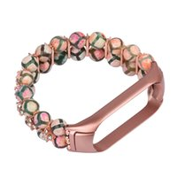 Agate Jewelry Strap Wristband For Xiaomi Mi Band 3 4 Bracelet Woman Gift Miband 5 6 Luxury Wrist Round Bead Watchband Replaceable Smart Accessories
