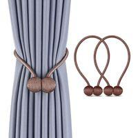 Andra heminredning 2st Curtain Tieback Buckle Simple Tie Rope Backs Holdbacks Clips Hook Holder för vardagsrum
