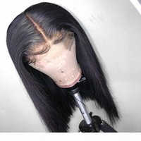 Lace Bob Wig Glueless Virgin Brazilian Straight Short Bob Lacefront Lace Front Human Hair Wigs Pre Plucked Full End