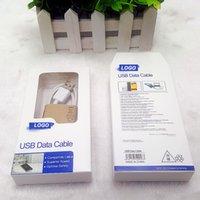 Confezione da regalo Pacchetto di ritaglio della carta per imballaggio per il cavo USB Samsung S5 S6 Note5 Note6 S7 S8 S9