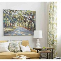Wandaufkleber Southern Oaks Kunst, reine handgemalte Landschaftskunstölgemälde auf hoher Qualitäts-Leinwand.any Customized Größe akzeptiert CI4I