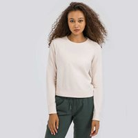Thickened Warm Yoga Sweater Gym Clothes Running Fitness Sports Tops Long Sleeve Casual Loose Shirt Workout Fashion T-shirt