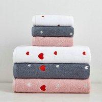 الحب تصميم منشفة مجموعة 100٪ القطن حمام منشفة وجه اليد ناعمة منشفة