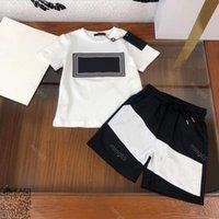 2021SS Brand Versa Vestiti per neonati Boys Boys Short Set in cotone Vers Designer Abbigliamento Bambini Bambini di grande qualità Bambini Vestito a maniche corte Size 110-160 ALBUM DHL