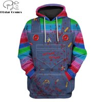 2019 New Fashion Men hoodies 3D Full-Print horror movie Chucky Hoodie Sweatshirt Apparel Cosplay costume Unisex Hoody streetwear G1007