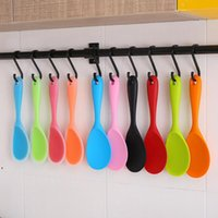 Colher de silicone de cor pura colher de arroz doméstico non vara rijos pavimentar colheres suspensas ferramenta de cozinha ferramenta de cozinha dwf9232