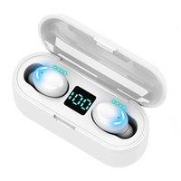 F9 TWS Sans fil Bluetooth Ecouteur 5.0 Touch Écouteurs Sport Dispositif Casque d'Airbuds pour Samsung Dropshipping