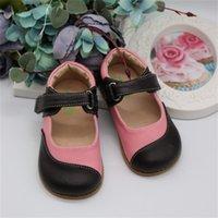 Tipsietoes Бренд Высокое Качество Натуральная Кожа Шище Детская Обувь Босиком Девушки Весна Новое Прибытие 210306