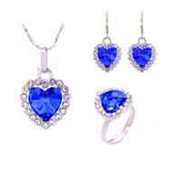 Набор ювелирных изделий Titanic Crystal Crystal Crystal Ocean Head Trues + кольцо 010
