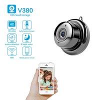 V380 ميني واي فاي كاميرا 1080 وعاء اللاسلكية الأمن الرئيسية كاميرات IP CCTV الأشعة تحت الحمراء للرؤية الليلية كشف الحركة كامكورد P2P
