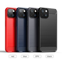 Carbon Fiber Brushed Texture Protective Soft TPU Cases For iPhone 13 12 Mini 11 Pro XR XS Max X 8 Samsung S8 S9 S10 Plus S20 FE S21 Ultra Note 10 20