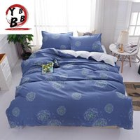 Conjuntos de ropa de cama 2021 Dandelion Blue Set 3 / 4pc Twin Queen King Tamaño King de alta calidad Cubierta de edredón plano Hoja plana Casas de cama Ropa de cama Ropa de cama