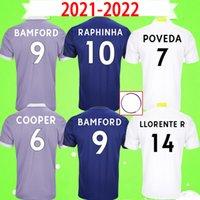 21 22 Leeds Soccer Jerseys 2021 2022 United Home Football Shirt Phillips Firpo Bamford Raphinha Diego Llorente Rodrigo Hombres Kits Kits Uniforme Tercera 3ra ventiladores Versión