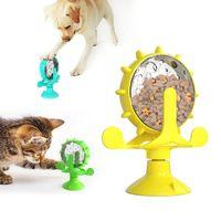Haustier Katze Feeder Spielzeug Kätzchen Necken Drehteller Windmantel Leckspielzeug Trainingsball 360 Rotierende Fütterung Toypet Zubehör WLL931