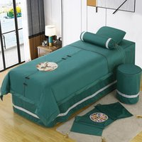 Sheets & Sets Four-piece Beauty Bedspread, European Cotton Salon Supplies, Ear Massage And Body Care Bed Cover Custom-made Sheet