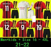 Adults and kids 2122 AC milan IBRAHIMOVIC soccer jersey PAQUETA BENNACER ROMAGNOLI CALHANOGLU 20 21 TONALI REBIC football shirt