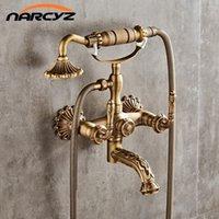 Miscelatore del rubinetto del rubinetto del bagno dell'ottone antico di lusso del rubinetto della parete del rubinetto della parete del rubinetto della parete del rubinetto della doccia del rubinetto della doccia del rubinetto della doccia