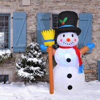 크리스마스 장식 1.2 미터 풍선 눈사람 인형 홈 야외 갈 랜드 마당 소품 LED 가벼운 장난감 장식품 EU 미국 플러그