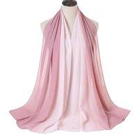 Шарверы S007 промежуточный промежуточный два тона цвета шифон мусульманский хиджаб шарф большие размеры головки шали обертки платка исламская шляпа