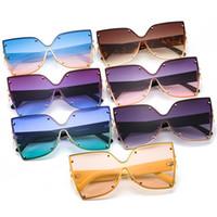 Büyük Çerçeve Metal Kelebek Şekli Bayanlar Güneş Gözlüğü Kedi Gözler Renk Tek Parça Avrupa ve Amerikan Moda Çapraz Sınırlı Güneş Gözlüğü 2213