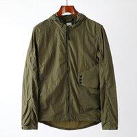 Windbreaker Sweatshirt Topstoney Mens Jacket Cyberpunk Casual Streetwear Goggles Hooded Overshirt Thin Men Coat SIZE M-XXL