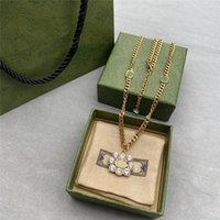 반짝이 다이아몬드 긴 펜던트 목걸이 더블 문자 스웨터 체인 목걸이 여성 모조 다이아몬드 펜던트 선물 상자