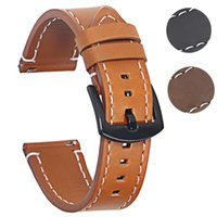 Watch Bands Genuine Leather Watchbands Bracelet Black Brown Cowhide Strap For Women Men 20mm 22mm Wrist Band